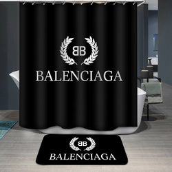 Balenciaga Logo Custom Printing Shower Curtain