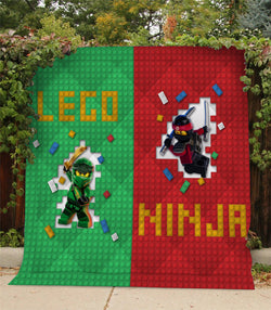 The LEGO Ninjago Movie Custom Printed Summer Quilt Blanket