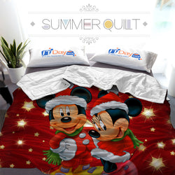 Disney Mickey Mouse Minnie Mouse Custom Printed Summer Quilt Blanket