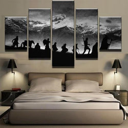 Lord Of The Rings Inspired - 5 Piece Canvas Wall Art