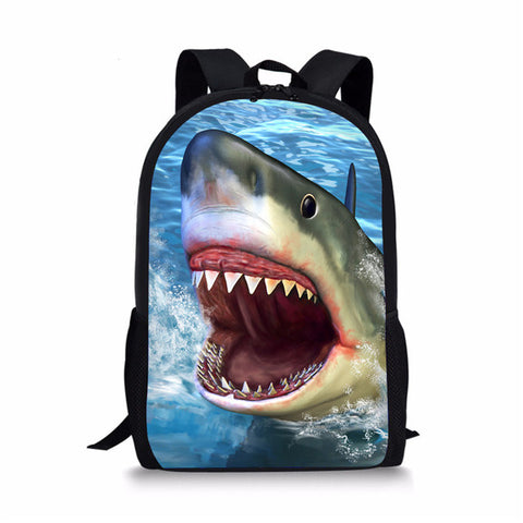Animal Sea Shark Custom Printing Backpacks