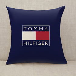 Tommy Hilfiger Logo Throw Pillow Cushion Cover [Fillings Included]