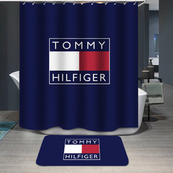 Tommy Hilfiger Logo Custom Shower Curtain
