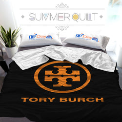 Tory Burch LOGO Custom Printed Summer Quilt Blanket