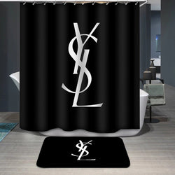 YSL Logo Yves Saint Laurent Custom Shower Curtain