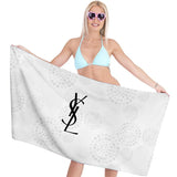YSL Logo Yves Saint Laurent Custom Bath Towels Hand Towels for Sports