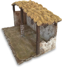 Faithful Treasure Christmas Nativity Scene Stable, Exclusively Designed and Hand Painted Polyresin Nativity Shed (7.5 in high)