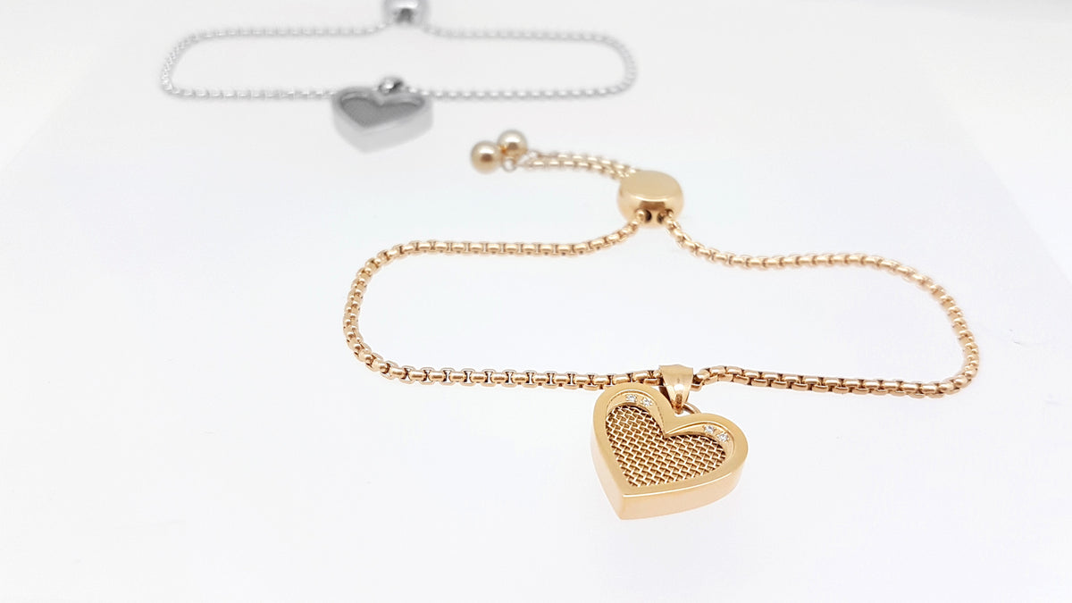 Heart Bracelet Scented Jewelry Rose Gold Color Perfume Jewelry