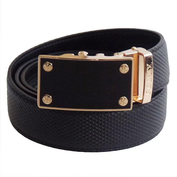 FEDEY Mens Classic Leather Ratchet Belt w Blank Canvas Statement Buckle