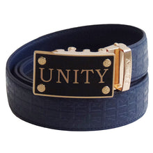 FEDEY Mens Signature Ratchet Leather UNITY Statement Belt w Automatic Buckle