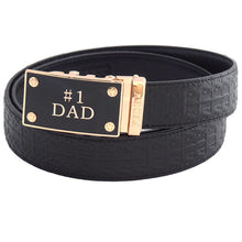 FEDEY Ratchet Belts for Men, Leather Signature Series, No1 DAD Buckle