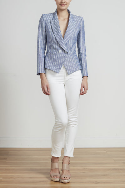 ON PARADE JACKET - LINEN STRIPE