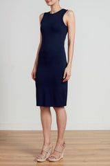 RACER DRESS - NAVY