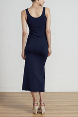 CLASSIC LONG LINE TANK DRESS - NAVY