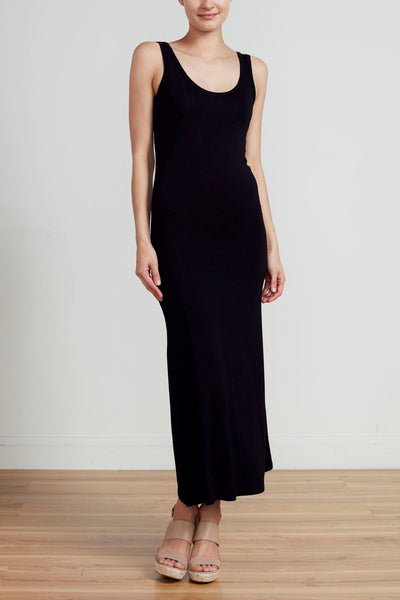 CLASSIC LONG LINE TANK DRESS - BLACK