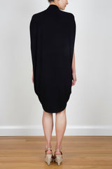 CAPE TIE DRESS - BLACK