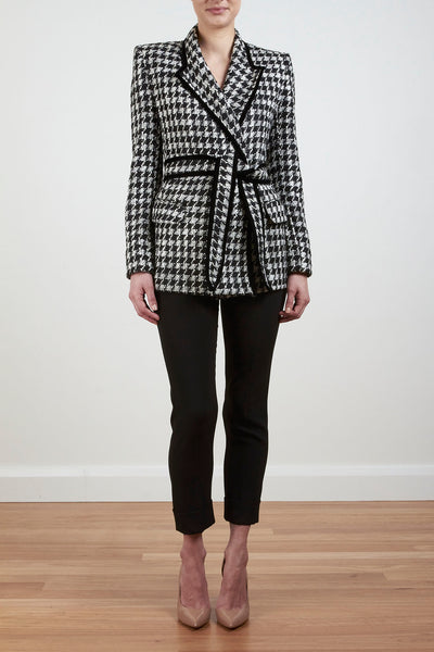 ROYAL WRAP RIDING JACKET- HERRINGBONE