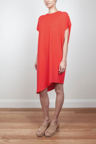 RELAXED FIT ASYMMETRICAL DRESS - SUNSET