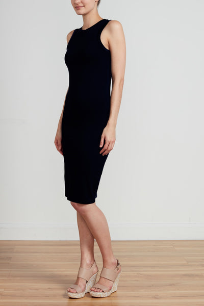 RACER DRESS - BLACK