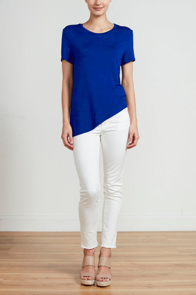 ASYMMETRICAL T-SHIRT - ROYAL