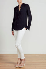 ROYAL RUFFLE SHIRT - BLACK