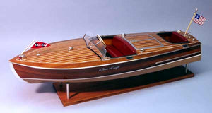 1949 Chris-Craft 19' Racing Runabout Wood Model Kit by Dumas