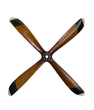 4 Blade Wood Airplane Propeller Replica by Authentic Models