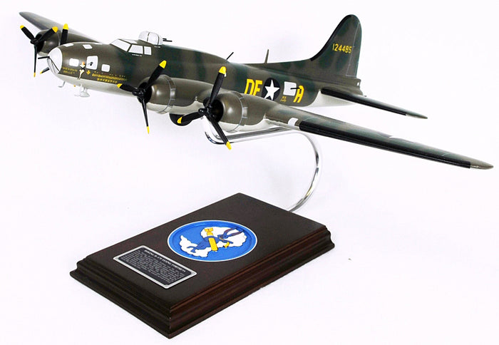 "B - 17 F Flying Fortress Wood Model Airplane ""Memphis Belle"""