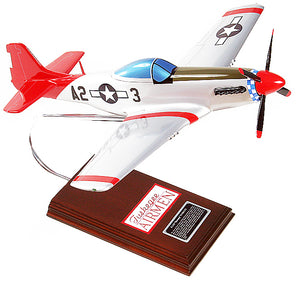 P - 51 D Mustang Wood Model Airplane - Tuskegee
