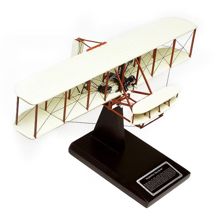"Wright Brothers Wright Flyer ""Kitty Hawk"" Wood Model Airplane 1:24"