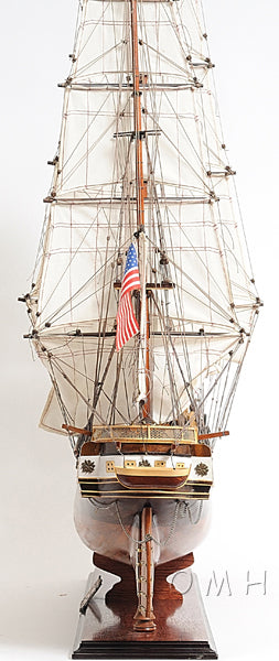 Assembled USS Constellation Wood Model Ship 38""