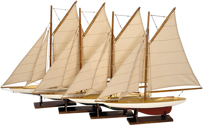Mini Pond Yacht: Set of 4 mini Pond Yachts by Autentic Models