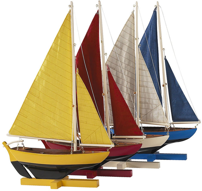 Sunset Sailors: Set of 4 mini Pond Sailboats by Authentic Models