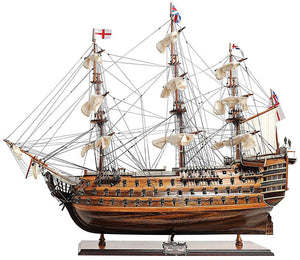 Assembled HMS Victory Wood Model Ship 37""