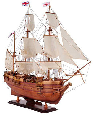 "Assembled HMS Beagle Wood Model Ship 32"" L"