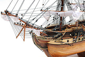"Assembled  U.S.S. Constitution  Wood Model  Ship (29"" long)"