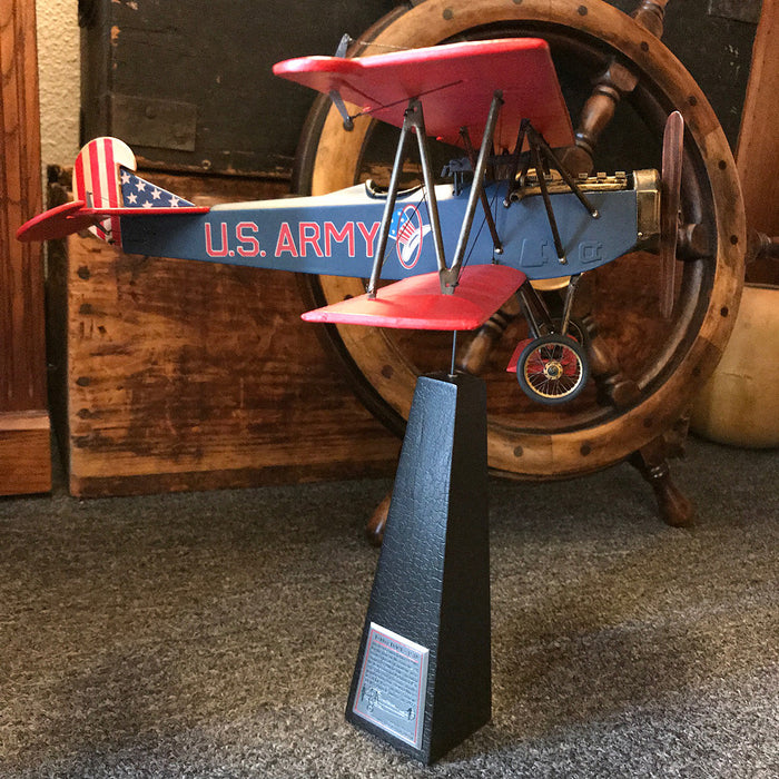Desktop Fokker D - VII, US Army, with stand by Authentic Models