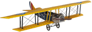 "Hanging Detailed Jenny Airplane Model 31"" by Authentic Models"