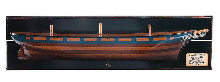 Lightning Wood Model Ship Half Hull by Authentic Models
