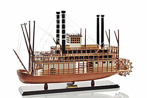 Assembed Mississippi Riverboat Wood Model Boat