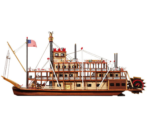 Mississippi Riverboat Wood Model Kit from OcCre