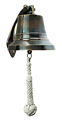 "5"" Nautical Brass Bell with bronze finish"