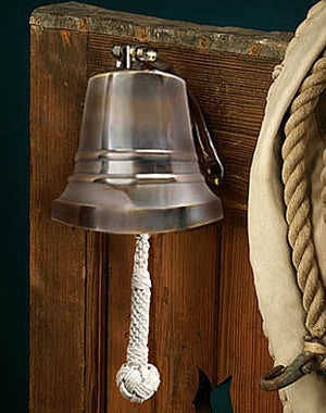 "6"" Nautical Brass Bell with bronze finish by Authentic Models"