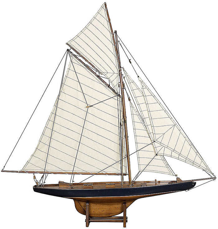 Columbia Racing Yacht 1901: Model Boat (Small) - Antique Finish
