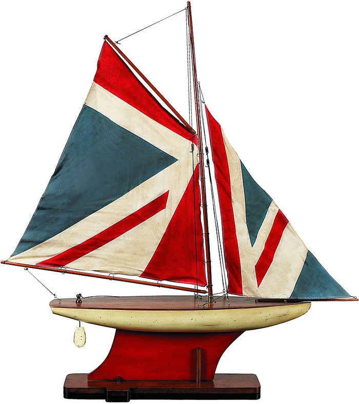 Union Jack Pond Yacht Model Boat by Authentic Models