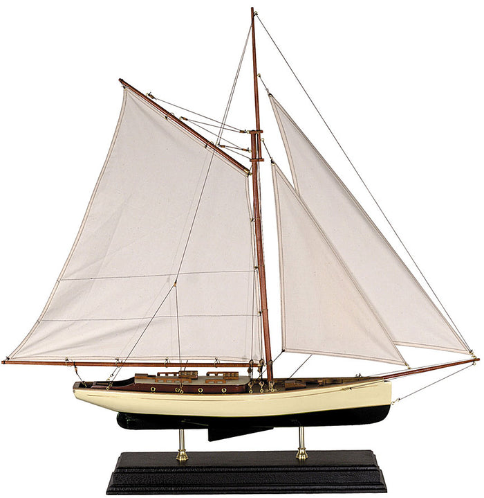 1930's Classic Model Yacht Wood Model Boat by Authentic Models