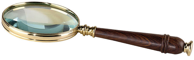 Magnifying Glass Brass and Wood by Authentic Models