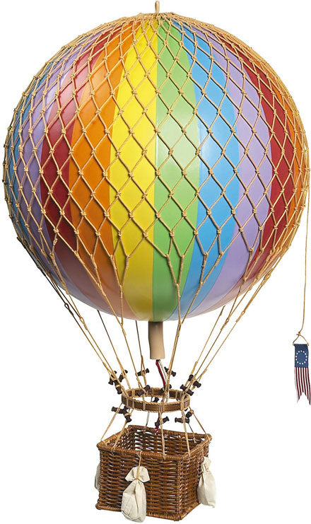 "Hanging Helium Balloon (Decorative) Jules Verne , Rainbow 16.5"" by Authentic Models"