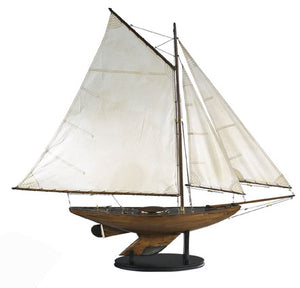 Bermuda Sloop Model Boat with Antique Finish