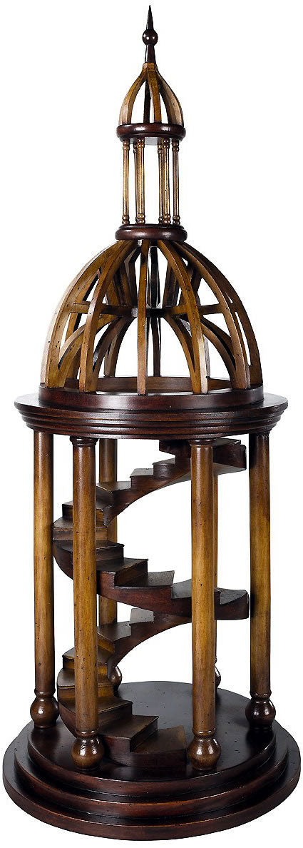 Bell Tower Antica Museum Wood Architectural Model Collectible by Authentic Models